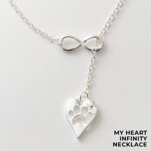 Special Offer! Furever In My Heart Infinity Necklace - Silver