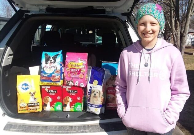 Avery and collected donations
