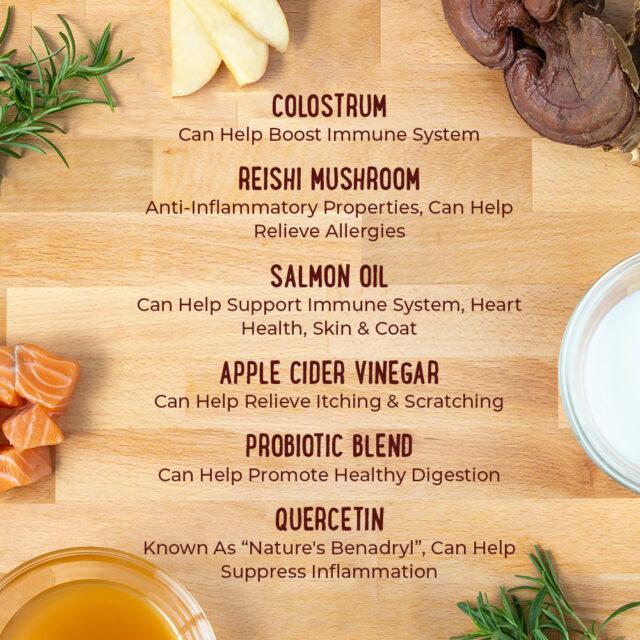 Ingredients to eliminate dog allergies