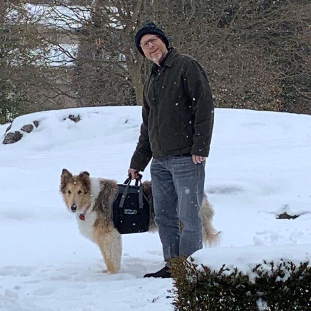 Ron Howard and senior dog