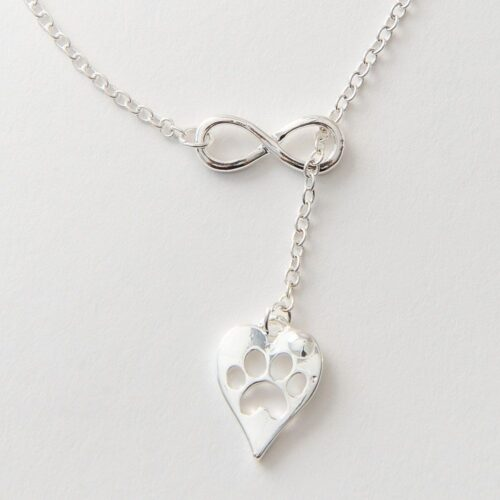 Furever In My Heart Infinity Necklace - Silver