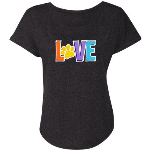 Love is 💕 Slouchy Tee- Black 🐾 Deal 20% Off!