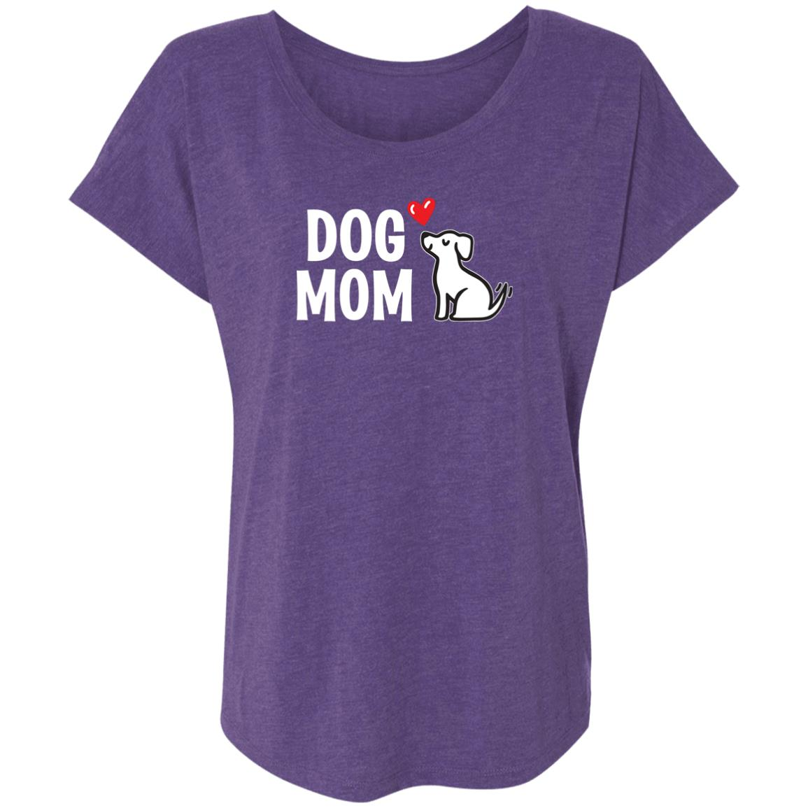 "Dog Mom ""I Really Love This Pup""  ❤️ Slouchy Tee- Purple"