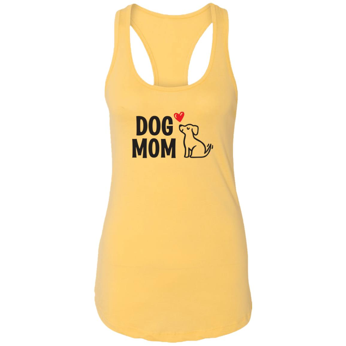 "Dog Mom ""I Really Love This Pup"" Ideal Tank- Yellow"