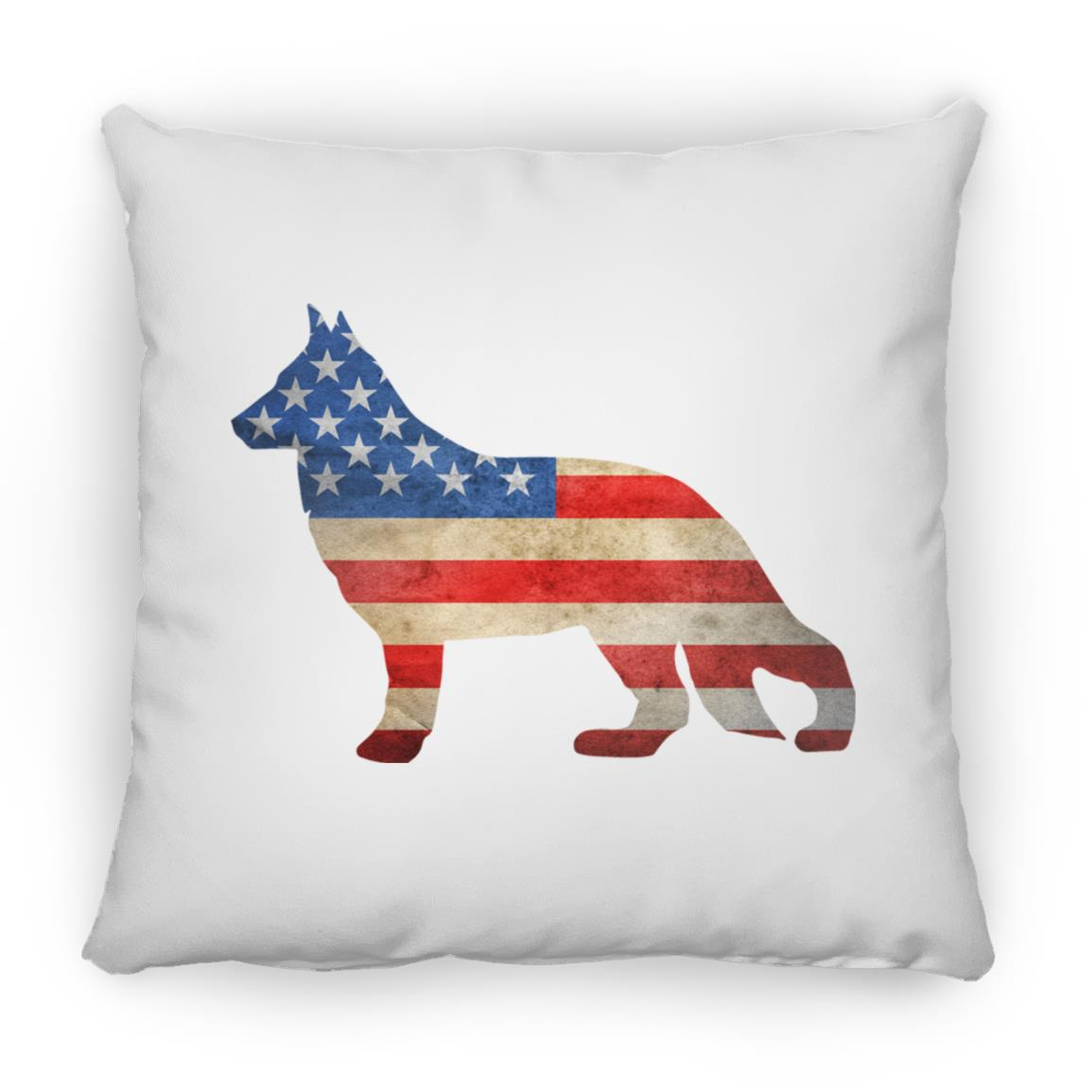 "German Shepherd USA 🇺🇲 14"" x14"" Pillow"