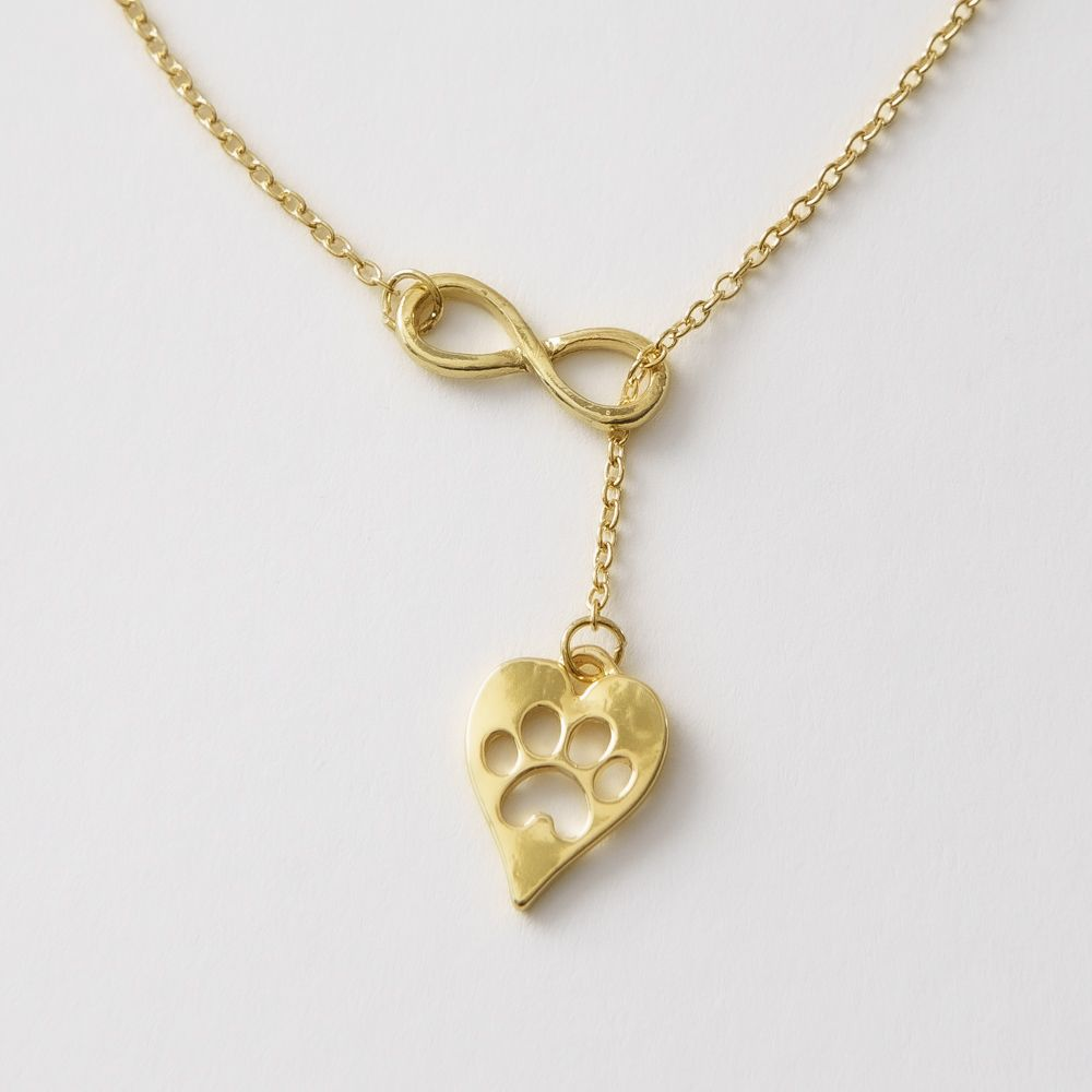 Furever In My Heart Infinity Necklace - Gold