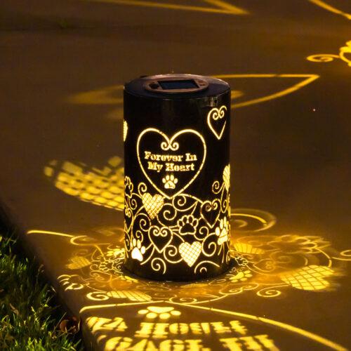 Forever In My Heart- Memorial Artisan Shadow Solar Lantern - Deal 33% Off!