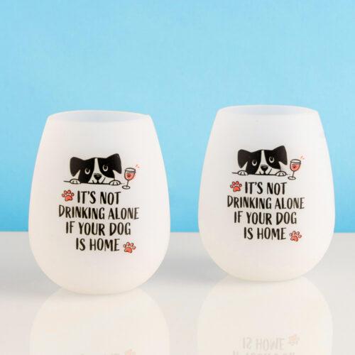 It's Not Drinking Alone- Shatterproof Pack 'n Sip Wine Cups (Set of 2)