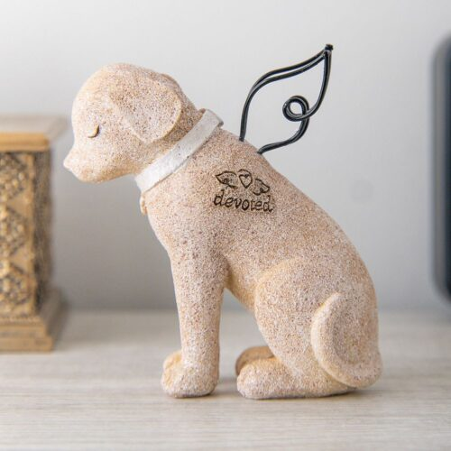 Devoted Dog Angel Memorial Statue