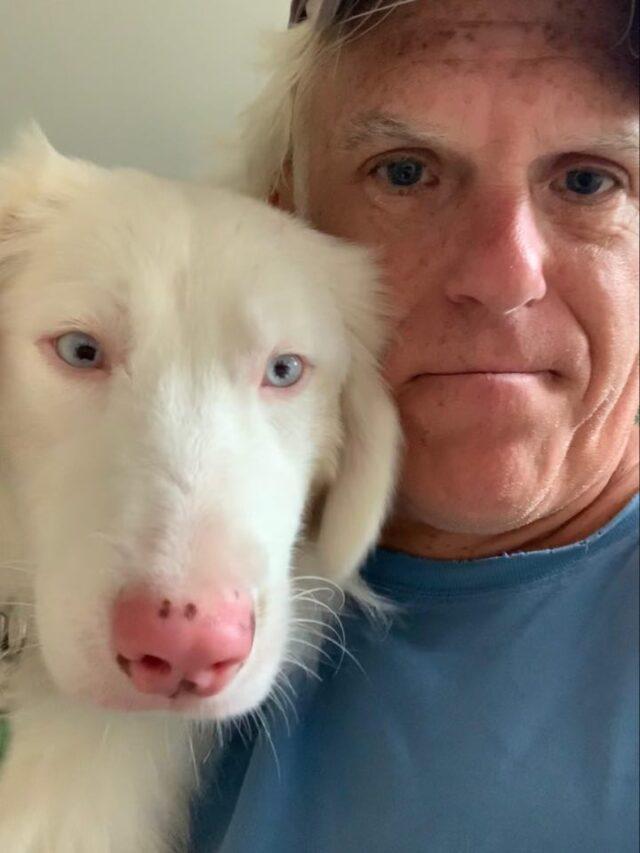 Deaf dog with deaf human
