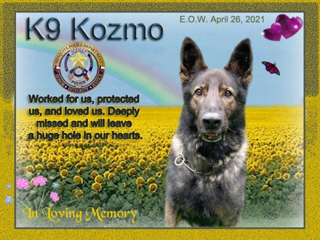 K9 Kozmo memorial
