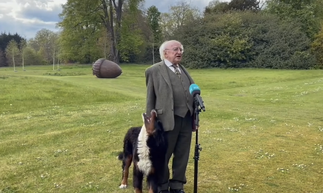 President of Ireland and his dog