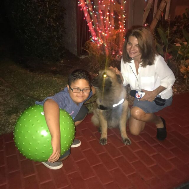 Sasha hero dog and neighbors