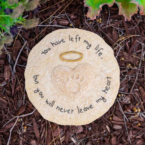 You Will Never Leave My Heart- Memorial Garden Stone
