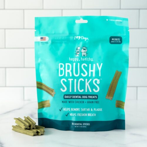 Happy, Healthy™ Brushy Sticks Dental Dog Treats - Dental Chews for Dogs