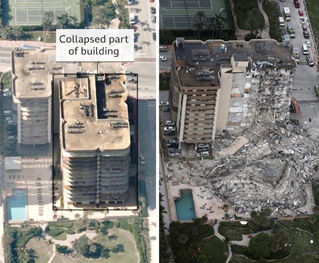 Collapsed Miami building