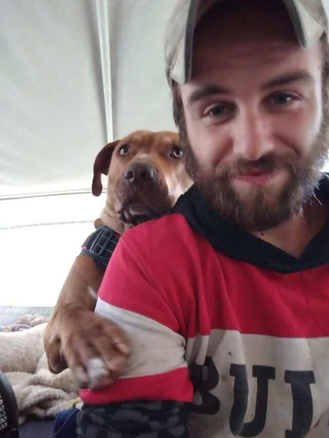 Man and his service dog