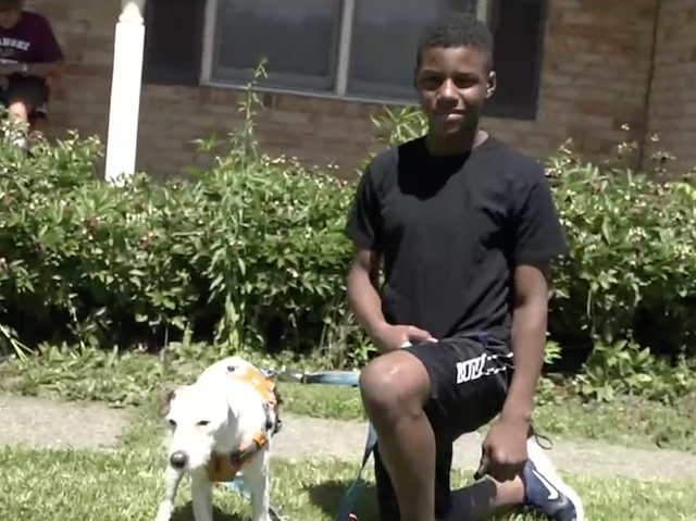Teen finds lost dog