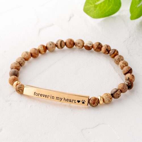Paws & Reflect 'Forever In My Heart ' Bracelet - Tan Picture Stone