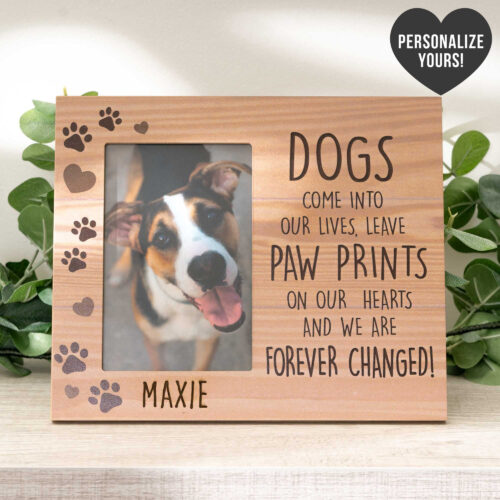 Dogs Come Into Our Lives - Personalized Photo Frame