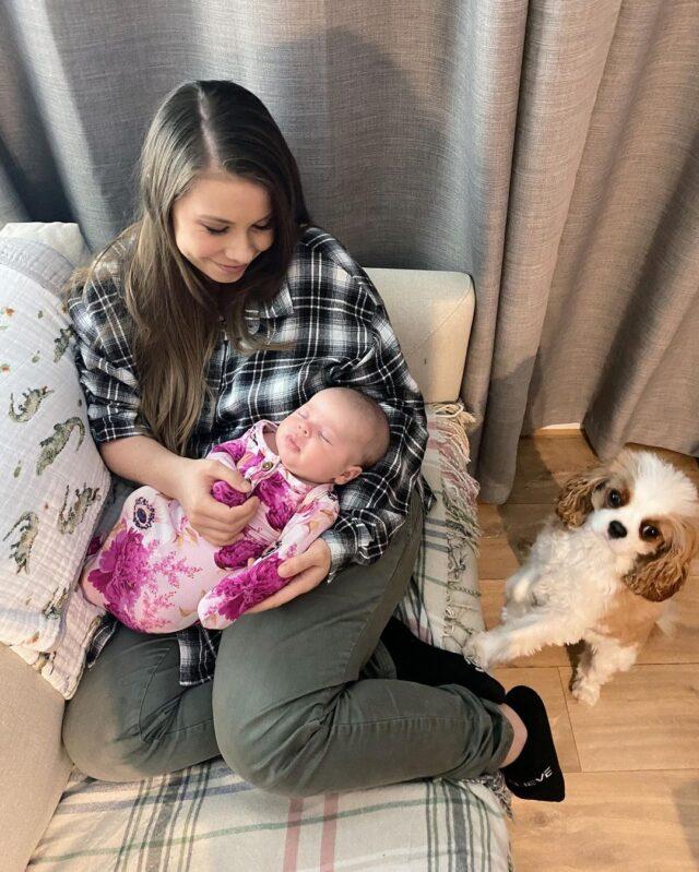 Bindi with dog and daughter