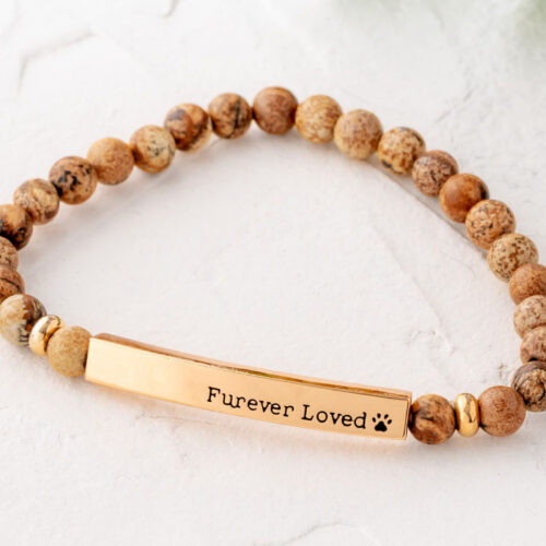 Paws & Reflect 'Furever Loved' Bracelet - Tan Picture Stone