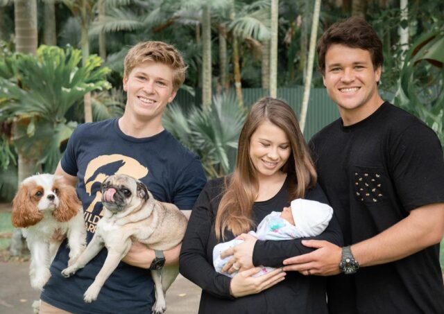 Irwin Family with Baby and Dogs