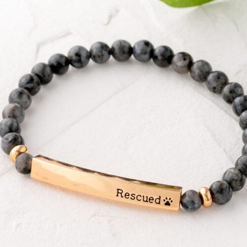 Paws & Reflect 'Rescued' Bracelet - Grey Spectrolite