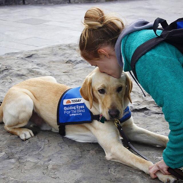 Service dog kisses