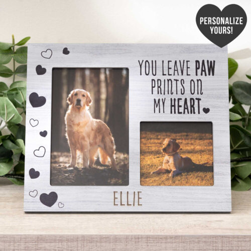 You Leave Paw Prints On My Heart Frame - Personalized Photo Frame