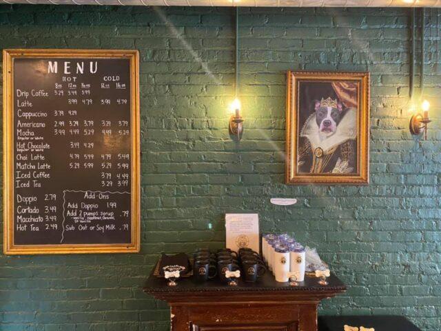 Dog coffee shop