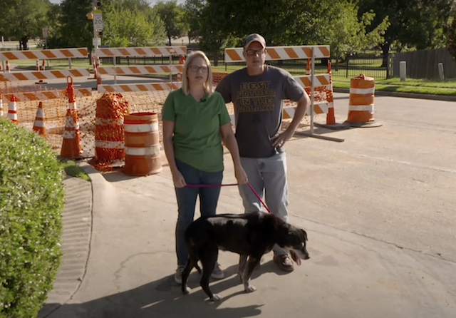 Family reunited with dog from storm drain