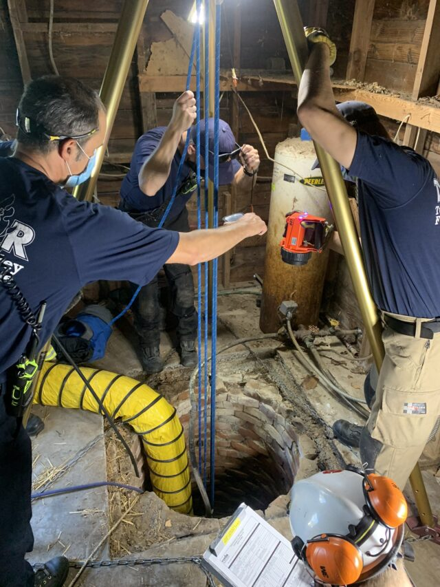 Firefighters rescue dog from well