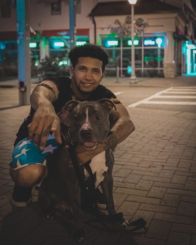 Man and Pit Bull