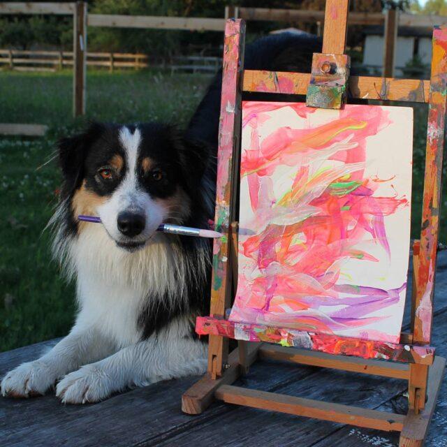 proud dog artist