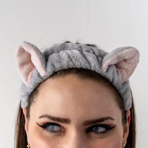Meow Meow Kitty Ears- Soft Grey