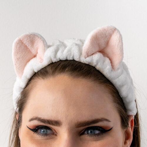 Meow Meow Kitty Ears- Soft White