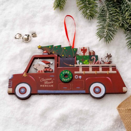 A Christmas Miracle Rescue Ornament 🎄 Firetruck