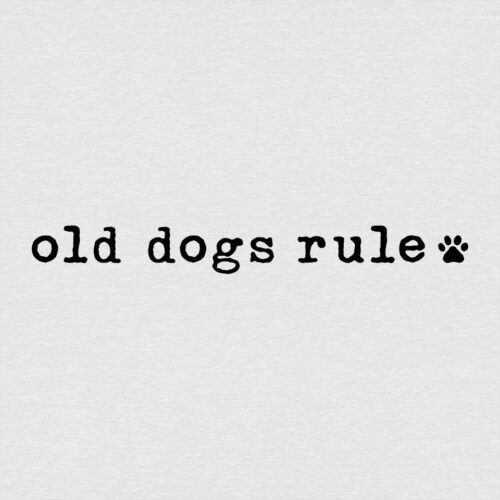 Old Dogs Rule Slouchy Tee Heather White