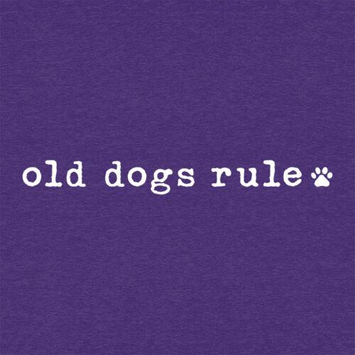 Old Dogs Rule Slouchy Tee Vivid Purple