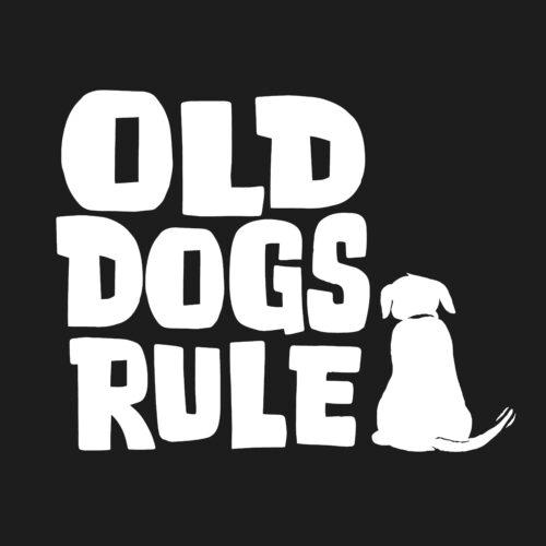 Old Dogs Rule! Pullover Hoodie Black