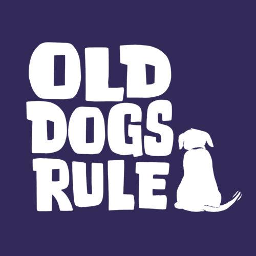 Old Dogs Rule! Pullover Hoodie Purple