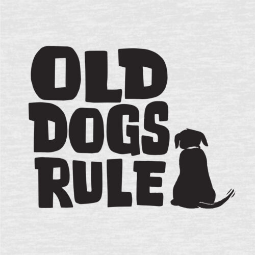 Old Dogs Rule! Premium Tee White