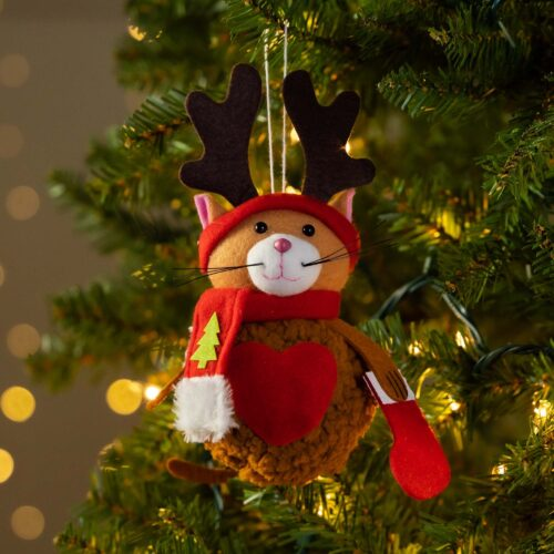 Warm Hearts ❤️ Full Bellies Ornament Collection 🎄 Prancer the Rescue Kitty