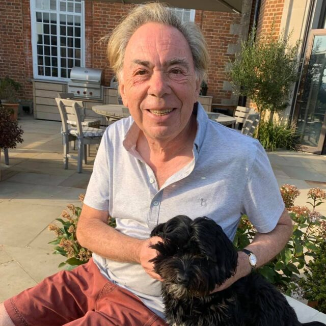 Andrew Lloyd Webber with Therapy Dog