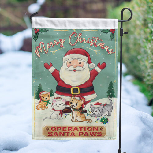 Operation Santa Paws Cats 🎁 Garden Flag - Get 2 for $14.99!