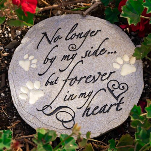 No Longer By My Side ... But Forever In My Heart Garden Stone