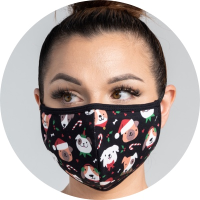 Christmas Dogs Mask Products